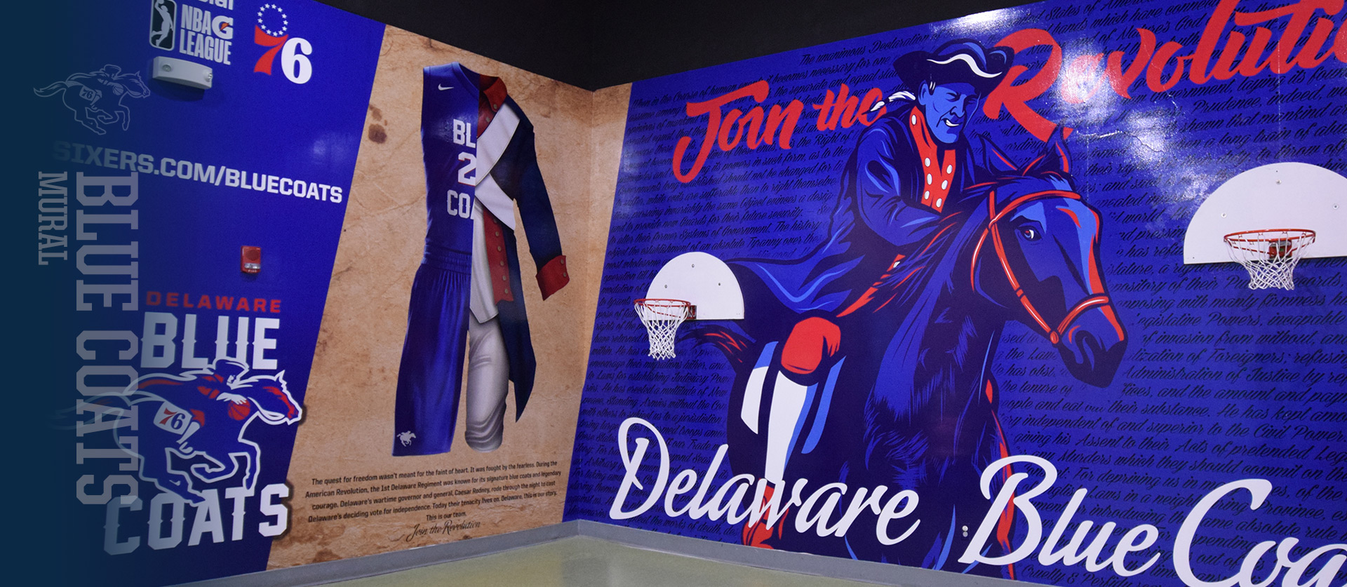 Delaware Blue Coats sports graphic design Mural