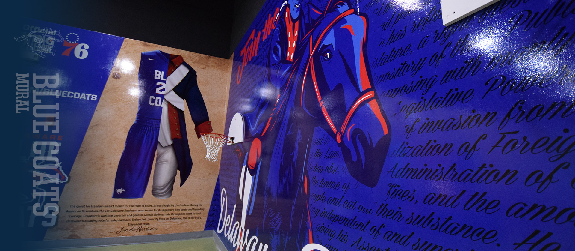Delaware Blue Coats Mural design by the barn creative