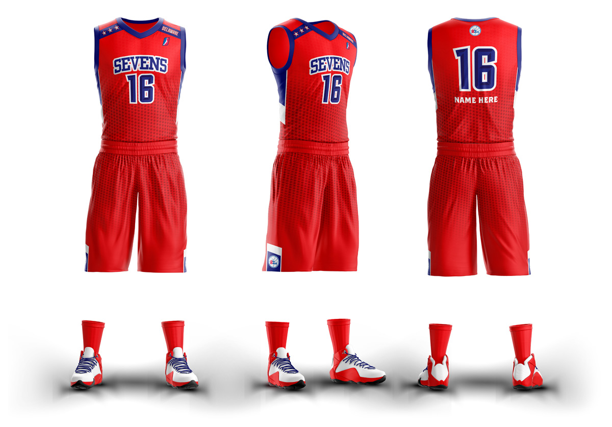 Delaware 87ers Uniforms