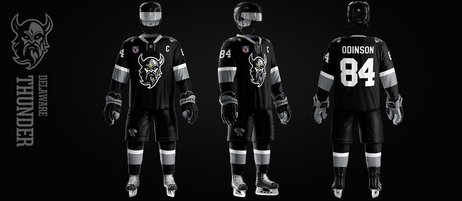 Delaware Thunder Uniforms design the the fhl