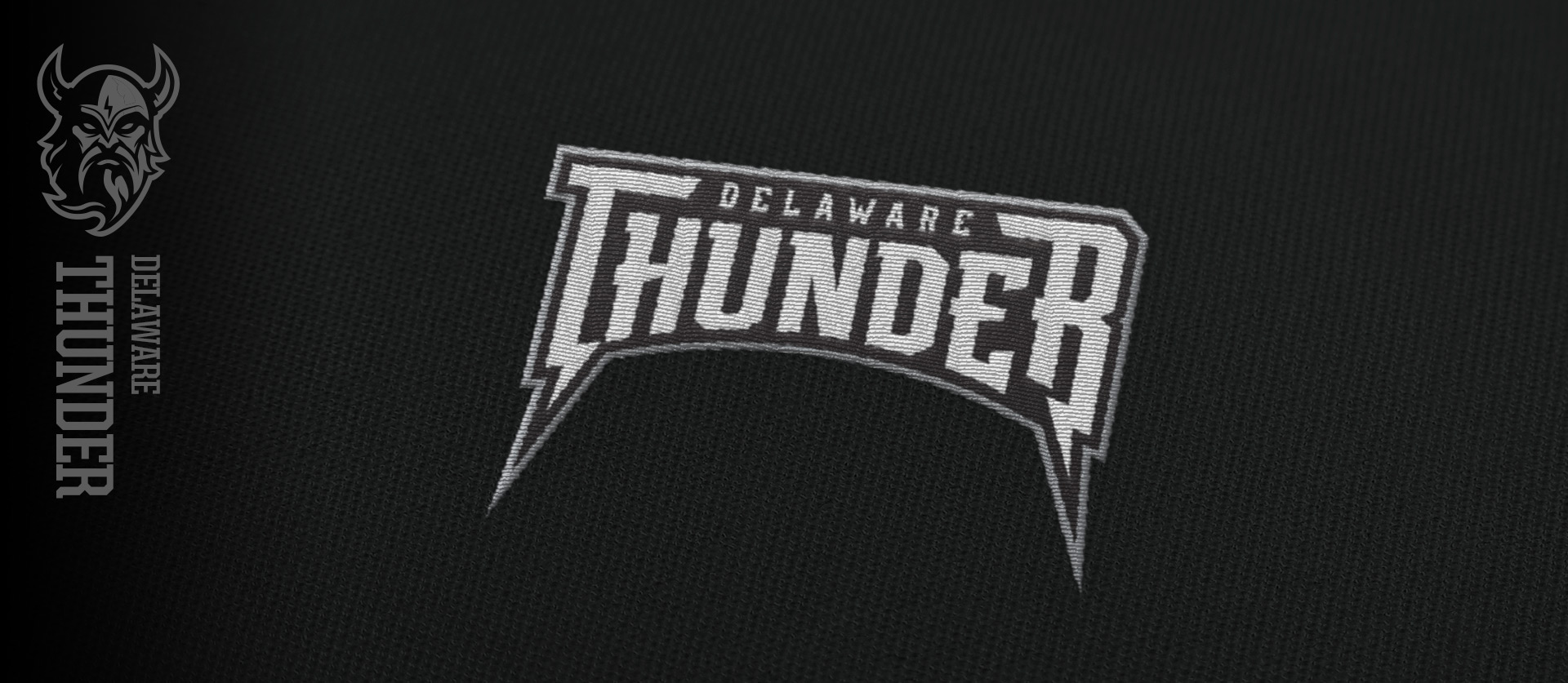 Delaware Thunder Uniforms Close-up Text federal hockey league team design