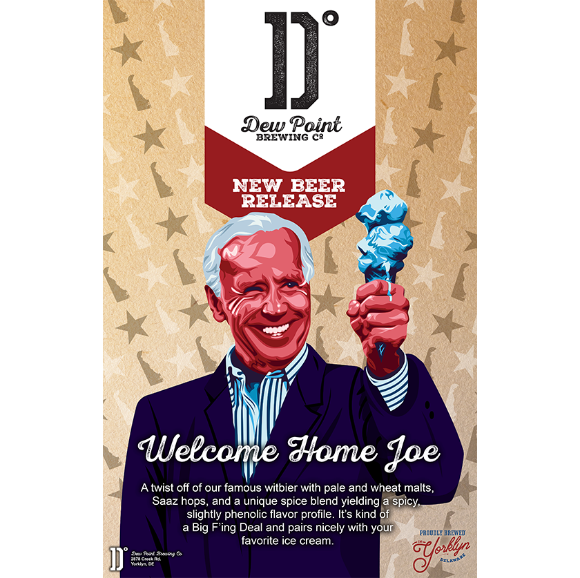 Dew Point Brewing Co. Welcome Home Joe Poster