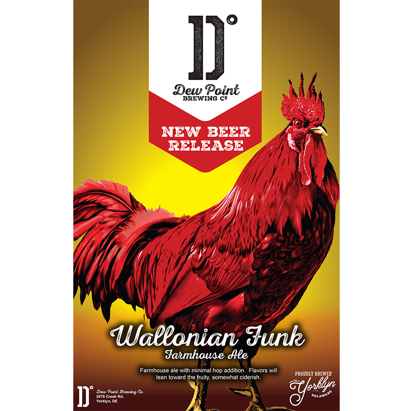 Dew Point Brewing Co. Wallonian Funk Poster