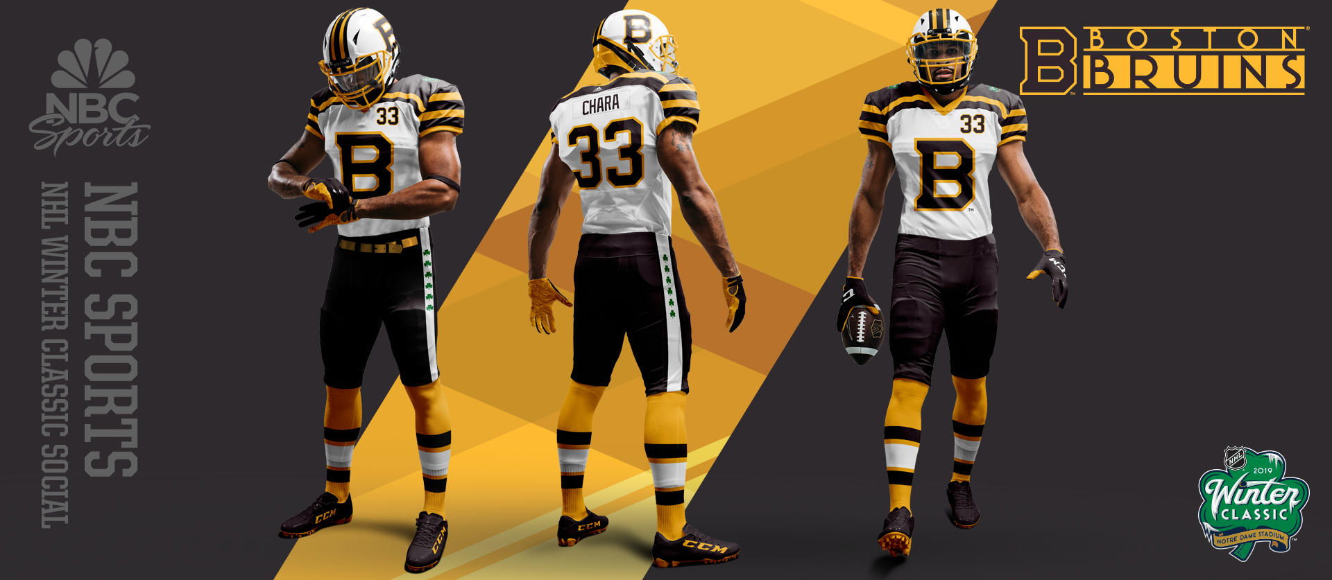 NHL Winter Classic - Boston Football Uniforms