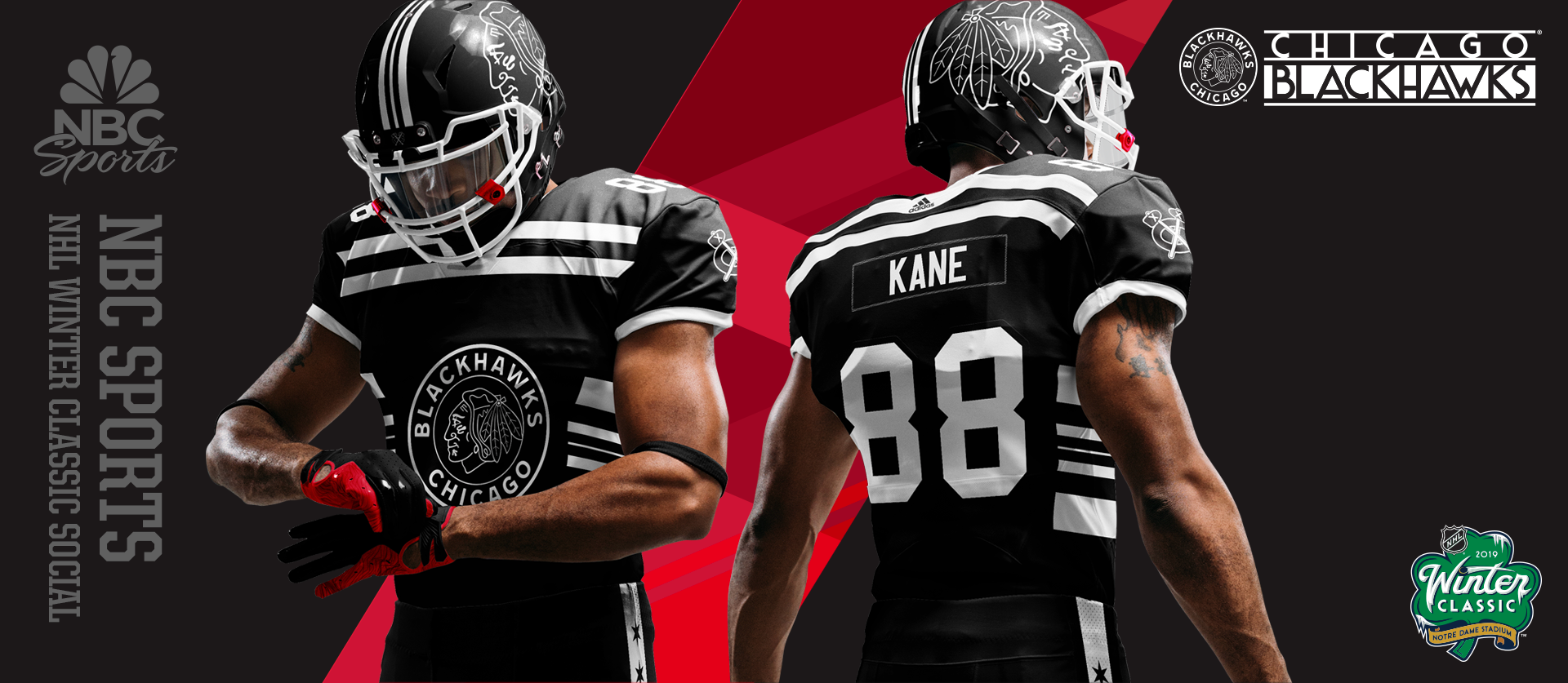 NHL Winter Classic - Chicago Football Uniforms Zoomed
