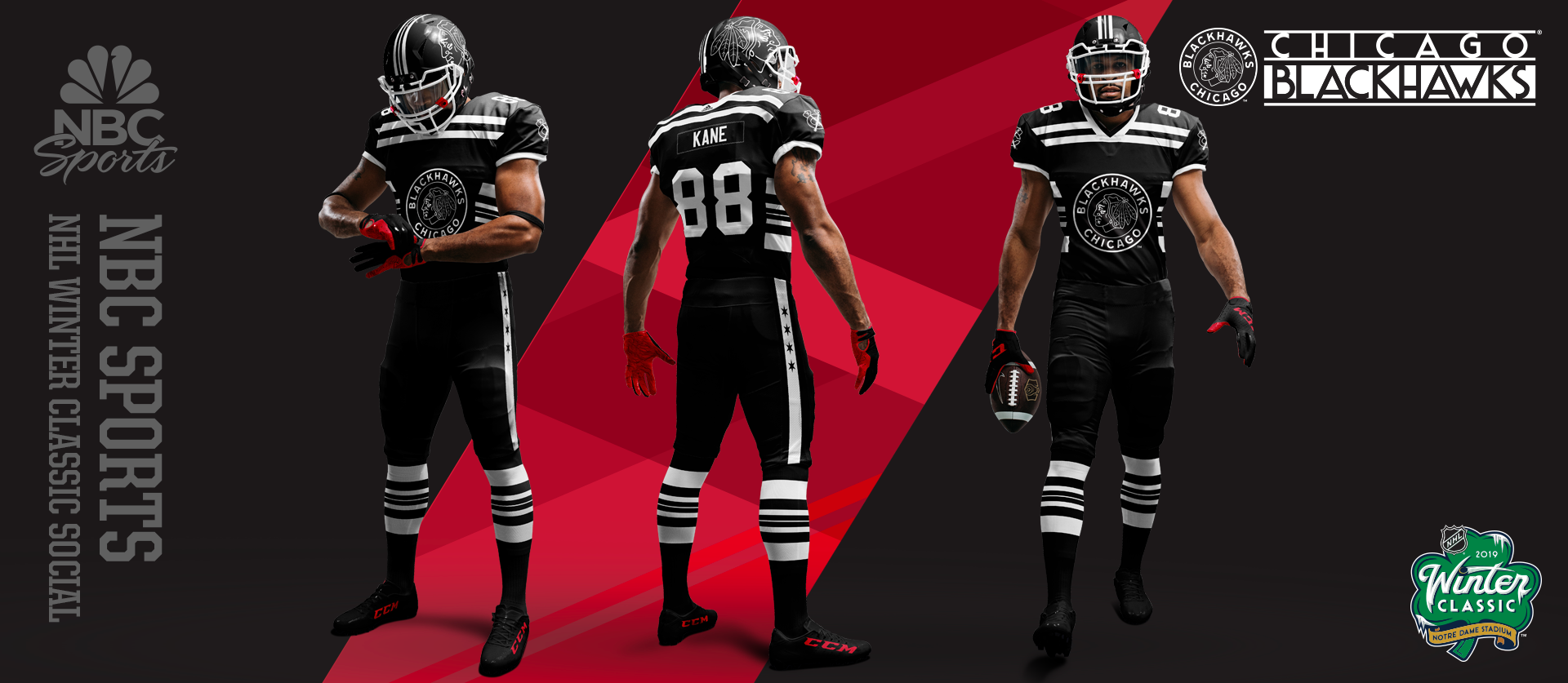 NHL Winter Classic - Chicago Football Uniforms