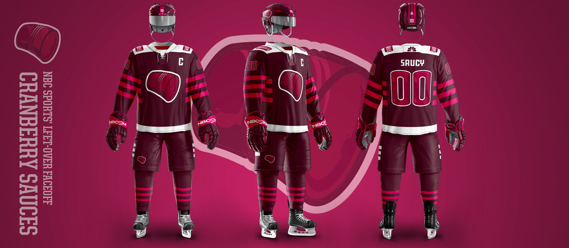 Cranberry Sauces - Football Uniform Design for NBC Sports Thanksgiving Second Feast Face-off
