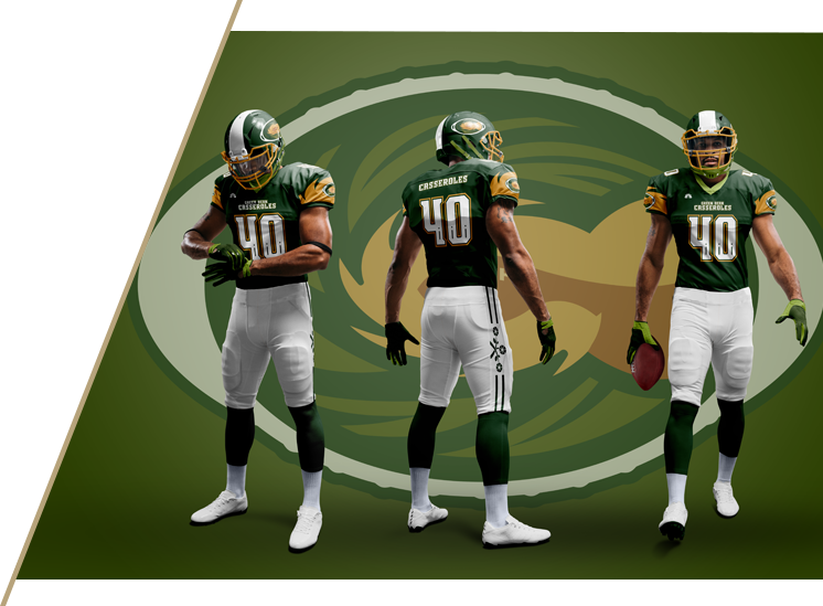 Green Bean Casseroles - NFL Uniforms for NBC Sports Thanksgiving Side Dish Bowl
