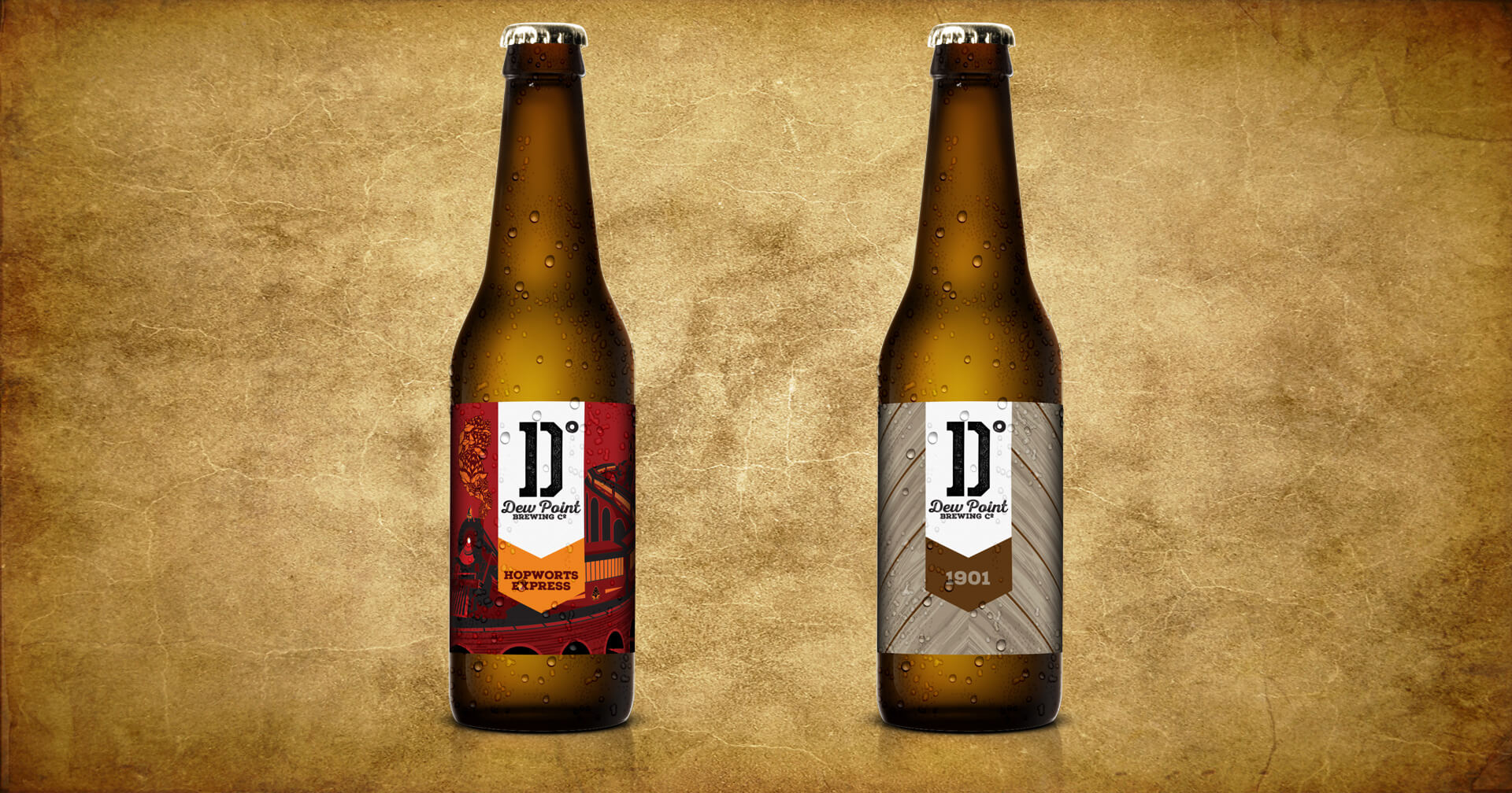 label design for dew point brewing co in yorklyn delaware