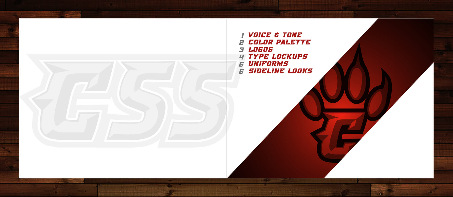 brand guidelines for sports logo of the conrad red wolves